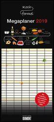 Kochformel 2019 – Mega-Familienkalender mit 6 Spalten – Familienplaner mit 2 Stundenplänen und Ferientabelle – Hochformat 30,0 x 68,5 cm