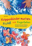 Krippenkinder machen Kunst - mit Fingerfarben!