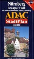 Grossraum Nurnberg, Furth/Erlangen ADAC Stadtplan 1:20 000: Neu! : extra, Durchfahrtsplan und Cityplan, Stauzonen, offentliche Verkehrsmittel (German Edition)