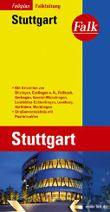 Falk Stadtplan Falkfaltung Stuttgart mit Ortsteilen von Ditzingen, Esslingen a.N