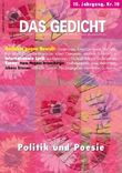 Das Gedicht. Zeitschrift /Jahrbuch für Lyrik, Essay und Kritik / DAS GEDICHT Nr. 10