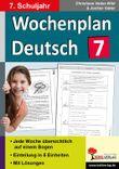 Wochenplan Deutsch, 7. Schuljahr