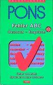 Fehler ABC, Deutsch-Englisch