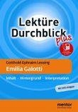Gotthold Ephraim Lessing: Emilia Galotti - Buch mit Info-Klappe