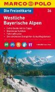 MARCO POLO Freizeitkarte Blatt 36 Westliche Bayerische Alpen 1:100 000