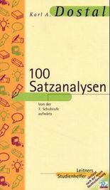 100 Satzanalysen und 250 Wortanalysen