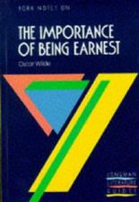 "York Notes on Oscar Wilde's ""Importance of Being Earnest"" (Longman Literature Guides)"