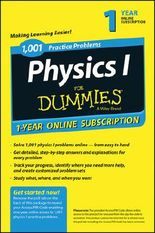 1,001 Physics I Practice Problems For Dummies Access Code Card (1-Year Subscription)