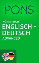 PONS Wörterbuch Englisch -> Deutsch Advanced / PONS Advanced English -> German Dictionary