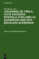 Epistola Cum Libello Ackerman Und Das Buchlein Ackerman