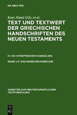 Text Und Textwert Der Griechischen Handschriften Des Neun Testaments IV