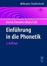 Einfuhrung in Die Phonetik