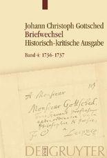 Johann Christoph Gottsched: Briefwechsel / 1736-1737