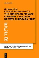 Societas Privata Europaea (SPE)