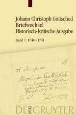 Johann Christoph Gottsched: Briefwechsel / August 1740 - Oktober 1741