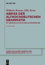 Abriss der althochdeutschen Grammatik
