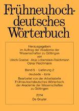 Frühneuhochdeutsches Wörterbuch. Band 5, Lieferung 2