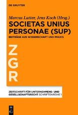 Societas Unius Personae
