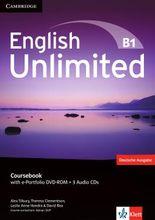 English Unlimited B1: Coursebook with e-Portfolio DVD-ROM + 3 Audio-CDs