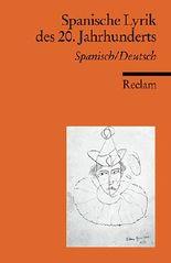 Spanische Lyrik des 20. Jahrhunderts