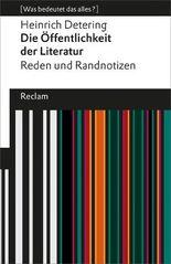 Die Öffentlichkeit der Literatur