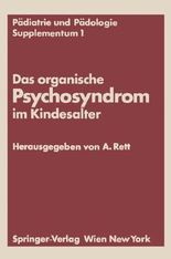 Das Organische Psychosyndrom Im Kindesalter