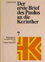 Theologischer Handkommentar zum Neuen Testament / Der erste Brief des Paulus an die Korinther