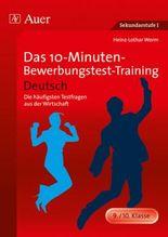 Das 10-Minuten-Bewerbungstest-Training Deutsch