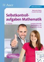 Selbstkontrollaufgaben Mathematik Klasse 8