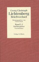 Lichtenberg Briefwechsel Bd. 5: Register