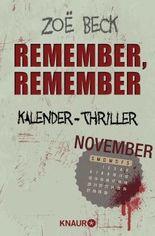 November - Remember, remember