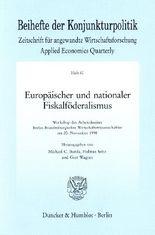 Europäischer und nationaler Fiskalföderalismus