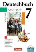 Deutschbuch - Gymnasium - Allgemeine Ausgabe/Neubearbeitung. Sprach- und Lesebuch / 7. Schuljahr - Arbeitsheft mit Lösungen und Übungs-CD-ROM