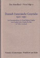 Deutsch-französische Gespräche 1920-1950