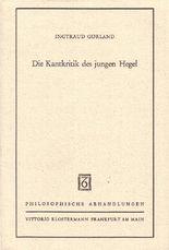 Die Kantkritik des jungen Hegel