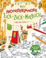Mein monsterlanges Zick-Zack-Malbuch: Finde den Hoggel!