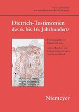 Dietrich-testimonien Des 6 Bis 16 Jahrhunderts
