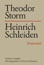 Theodor Storm - Heinrich Schleiden