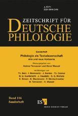 Philologie als Textwissenschaft