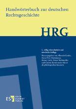 Handwörterbuch zur deutschen Rechtsgeschichte (HRG) - Lieferungsbezug -