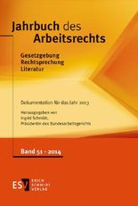 Jahrbuch des Arbeitsrechts. Bd 51