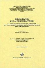 Bibliographie Zur Antiken Sklaverei