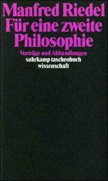 Für eine zweite Philosophie