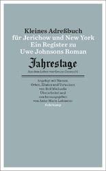 Kleines Adressbuch für Jerichow und New York
