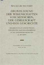 Grundlegung Der Wissenschaften Vom Menschen, Der Gesellschaft Und Der Geschichte
