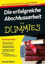 Die Erfolgreiche Abschlussarbeit Fur Dummies