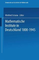 Mathematische Institute in Deutschland 1800-1945