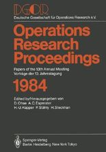 Operations Research Proceedings 1984
