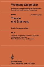 Logische Analyse Der Struktur Ausgereifter Physikalischer Theorien/ Logical Analysis of the Mature Structure of Physical Theories. 'non-statement View' of Theories