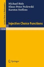 Injective Choice Functions